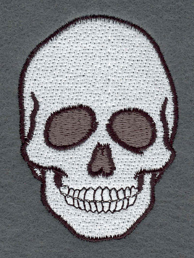 Embroidery Design: Skull Large2.35w X 3.32h