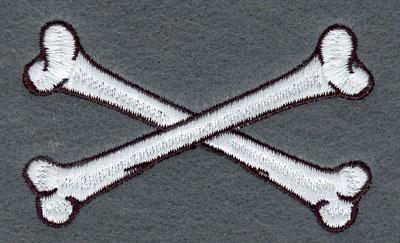Embroidery Design: Crossed Bones Small3.19w X 1.93h