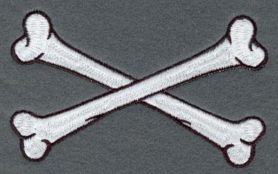 Embroidery Design: Crossed Bones Large4.78w X 2.89h