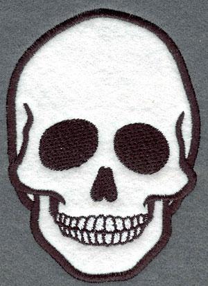 Embroidery Design: Skull Applique3.25w X 4.55h