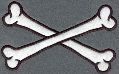 Embroidery Design: Crossed Bones Applique6.49w X 3.94h