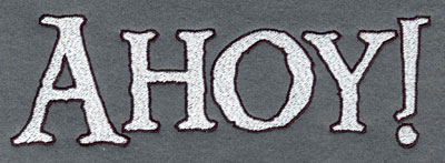 Embroidery Design: Ahoy! Large 7.01w X 2.23h