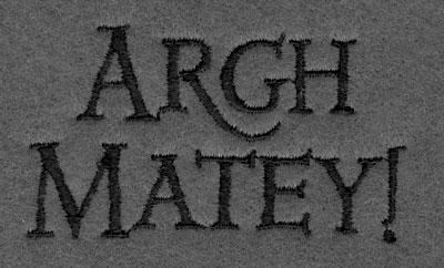 Embroidery Design: Argh Matey!3.00w X 1.59h