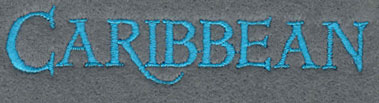 Embroidery Design: Caribbean 3.81w X 0.84h