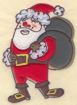 Embroidery Design: Santa Claus Applique4.26w X 5.84h