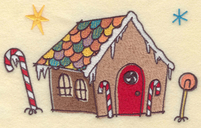 Embroidery Design: Gingerbread House6.75w X 3.94h