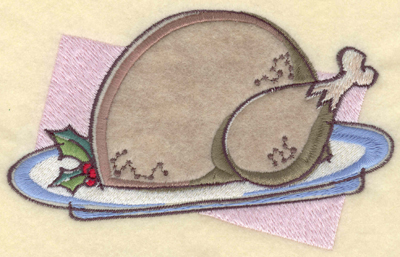 Embroidery Design: Turkey Platter Applique6.01w X 3.76h