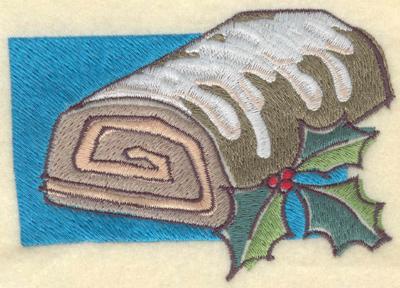 Embroidery Design: Yule Log5.05w X 3.57h