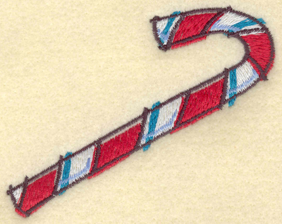 Embroidery Design: Candy Cane3.80w X 2.97h