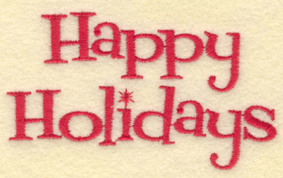 Embroidery Design: Happy Holidays3.74w X 2.17h