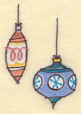 Embroidery Design: Christmas Ornaments 2.76w X 3.94h