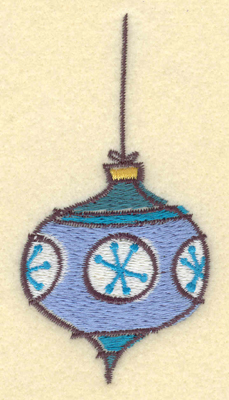 Embroidery Design: Christmas Ornament 1.99w X 3.91h