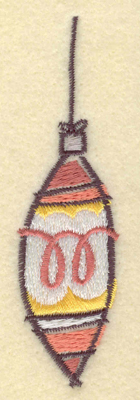 Embroidery Design: Christmas Ornament Long1.07w X 3.91h