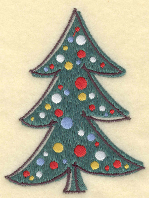 Embroidery Design: Christmas Tree2.93w X 3.91h