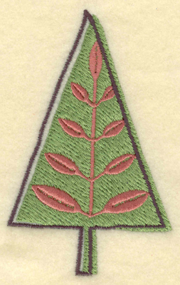 Embroidery Design: Stylized Christmas Tree2.43w X 3.91h