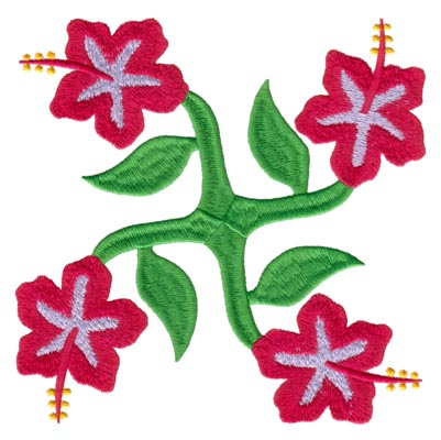 "Embroidery Design: Hawaiian Quilt B (large)6.57"" x 6.59"""
