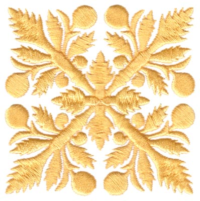 "Embroidery Design: Hawaiian Quilt D (small)3.29"" x 3.28"""
