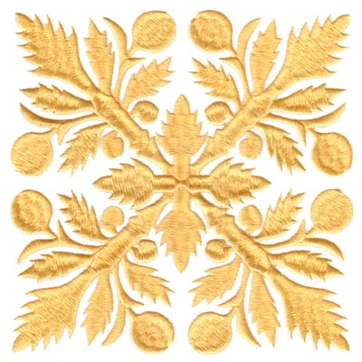 "Embroidery Design: Hawaiian Quilt D (large)6.55"" x 6.57"""