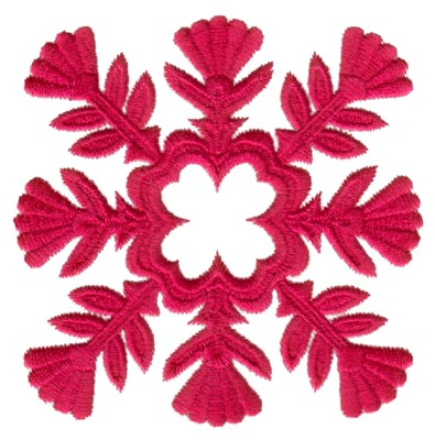 "Embroidery Design: Hawaiian Quilt E (small)3.29"" x 3.28"""