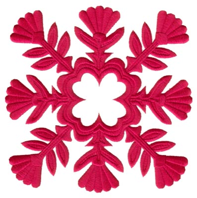 "Embroidery Design: Hawaiian Quilt E (large)6.58"" x 6.56"""