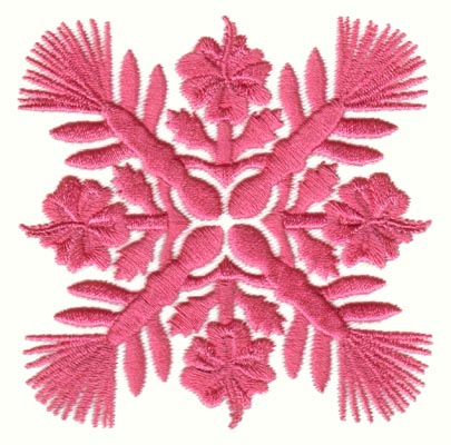 "Embroidery Design: Hawaiian Quilt F (small)3.27"" x 3.28"""