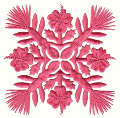 "Embroidery Design: Hawaiian Quilt F (medium)4.90"" x 4.91"""