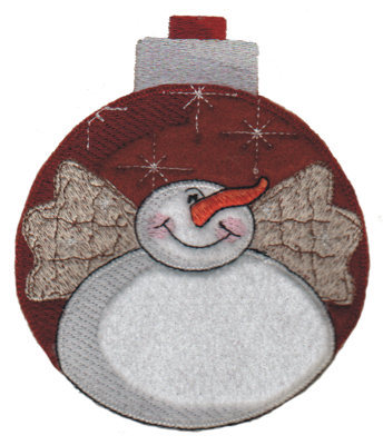 "Embroidery Design: Snowman Decoration4.45"" x 5.31"""