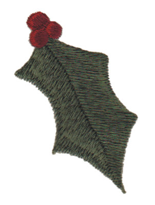 """Embroidery Design: Holly2.13"""" x 2.99"""""""