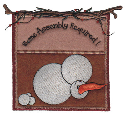 """Embroidery Design: Some Assembly Required5.25"""" x 4.71"""""""