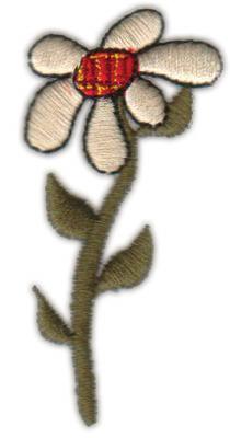 "Embroidery Design: Daisy1.40"" x 2.98"""