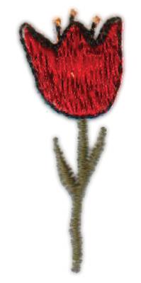 """Embroidery Design: Tulip0.74"""" x 2.00"""""""