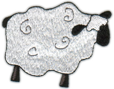 """Embroidery Design: Country Lamb3.58"""" x 2.82"""""""