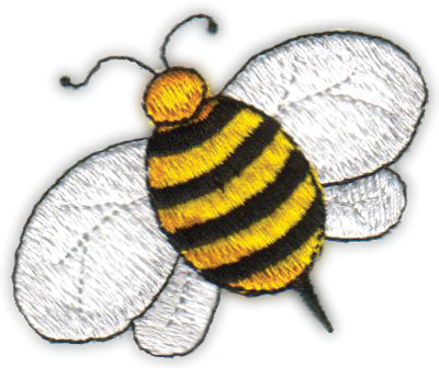"""Embroidery Design: Country Bee2.47"""" x 2.10"""""""