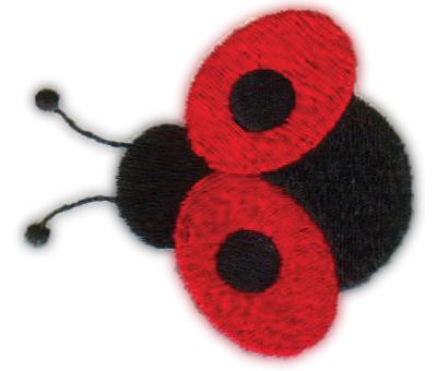 """Embroidery Design: Ladybug2.38"""" x 2.15"""""""