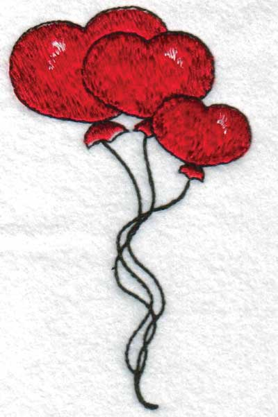 "Embroidery Design: Hearts2.63"" x 4.51"""