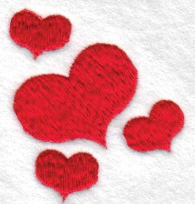 "Embroidery Design: Hearts2.07"" x 2.45"""