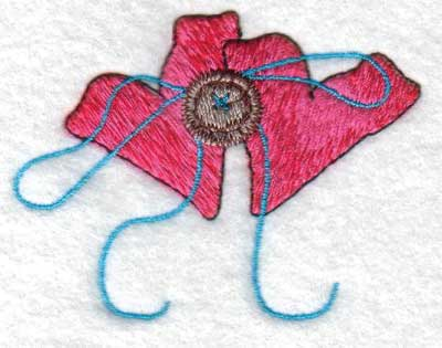 "Embroidery Design: Hearts2.99"" x 2.31"""