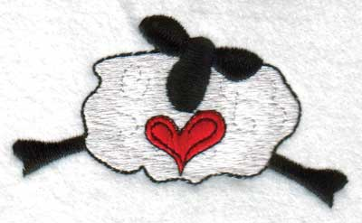 "Embroidery Design: Hearts3.72"" x 1.97"""