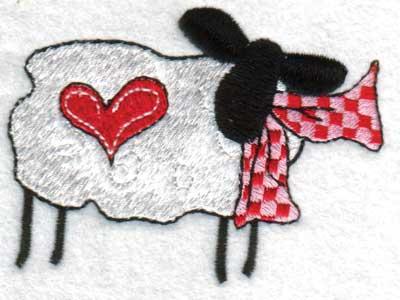 "Embroidery Design: Hearts3.71"" x 2.76"""