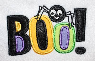 Embroidery Design: Halloween Boo Applique 4.02w X 2.56h