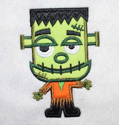 Embroidery Design: Halloween Frank Applique 2.97w X 4.10h