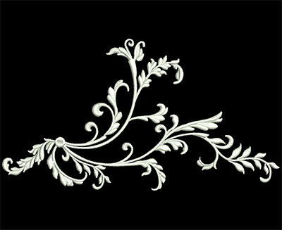 Embroidery Design: Heirloom Accents 2 Lg 8.92w X 4.89h