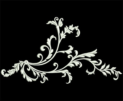 Embroidery Design: Heirloom Accents 2 Med 7.75w X 4.25h