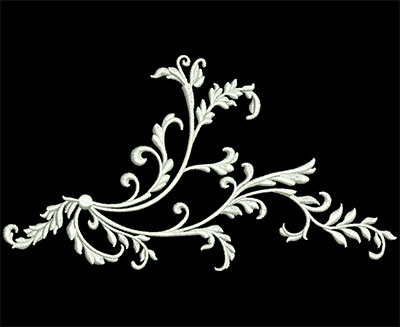 Embroidery Design: Heirloom Accents 2 Sm 6.51w X 3.57h