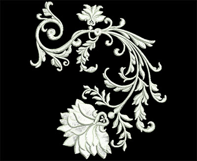 Embroidery Design: Heirloom Accents 5 Lg 4.74w X 5.45h