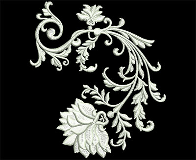 Embroidery Design: Heirloom Accents 5 Med 4.12w X 4.74h