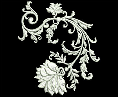 Embroidery Design: Heirloom Accents 5 Sm 3.46w X 3.98h