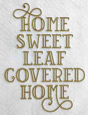 Embroidery Design: Home Sweet Home Lg 5.25w X 7.07h