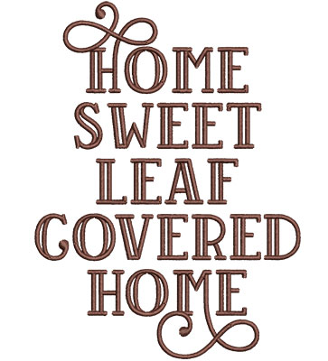 Embroidery Design: Home Sweet Home Med 4.51w X 6.07h