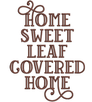 Embroidery Design: Home Sweet Home Sm 3.77w X 5.07h